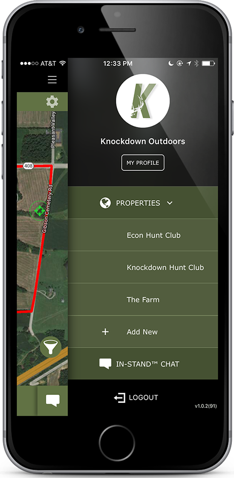 Knockdown Outdoors™ App Manage Multiple Hunting Properties